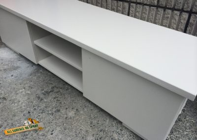 Grey sideboard spray painted